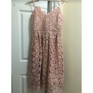 dusty rose pink dress
